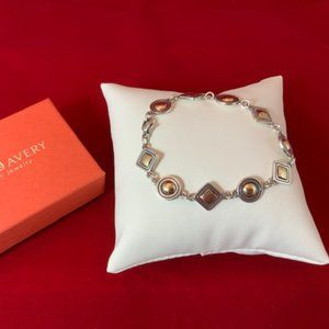 James Avery Circles and Squares Link Bracelet